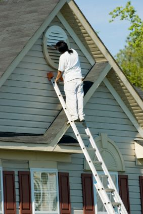 Exterior Painting being performed by an experienced Richard Libert Painting Inc. painter.