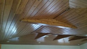 Wood Ceiling in Tampa, FL Residence Painted with a Clear Coat in Satin Finish (2)