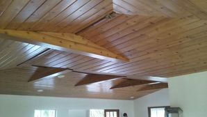 Wood Ceiling in Tampa, FL Residence Painted with a Clear Coat in Satin Finish (1)