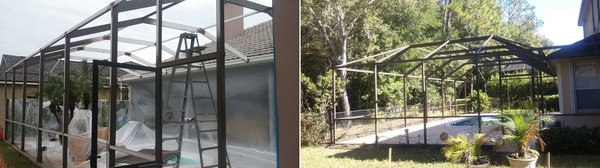 Richard Libert Painting Inc. provides Pool Cage Refinishing Services in Tampa, FL and All Surrounding Areas (1)