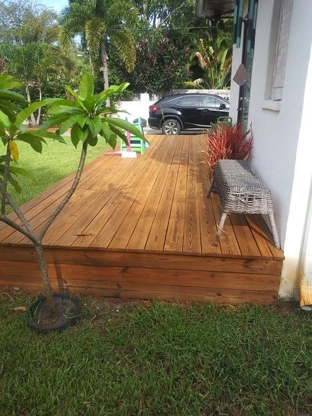 Deck staining in Belleair Shores, FL by Richard Libert Painting Inc..