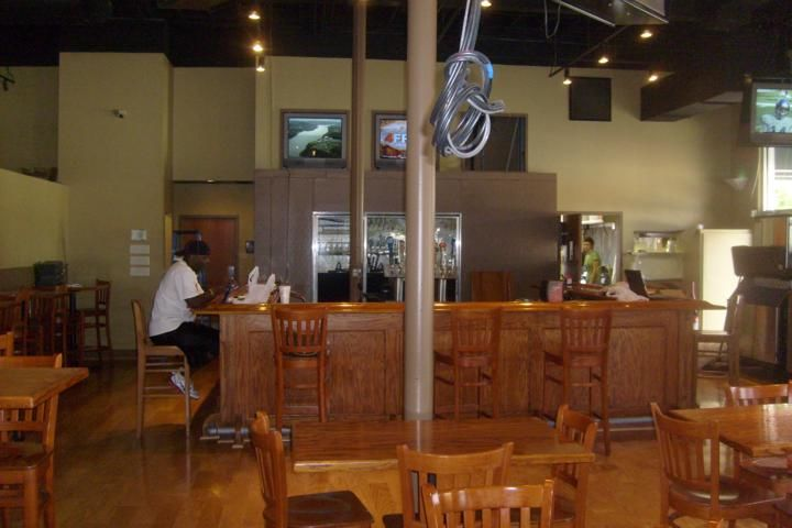 Commercial Sports Bar-Restaurant Interior Painting and installation of hardwood floors in downtown Tampa