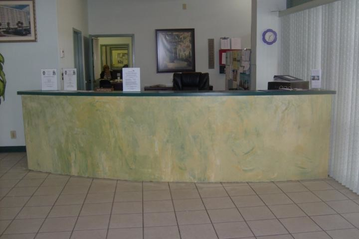 Commercial Venetian Plaster Senior Home Facility lobby in downtown Tampa