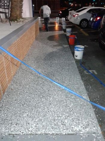 Epoxy Coating of a commercial building