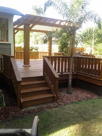 Deck staining in Lutz, FL by Richard Libert Painting Inc..